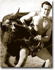 Mas Oyama Fighting a Bull