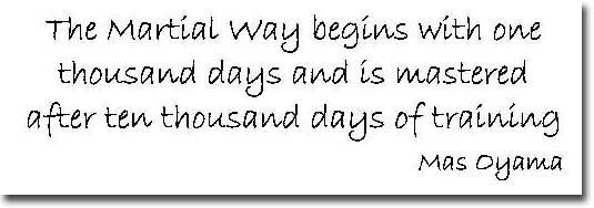 Mas Oyama Kyokushin Founder Quote