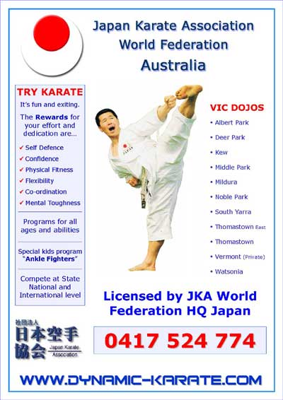 JKA Dojos in Melbourne