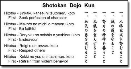 Shotokan Dojo Kun