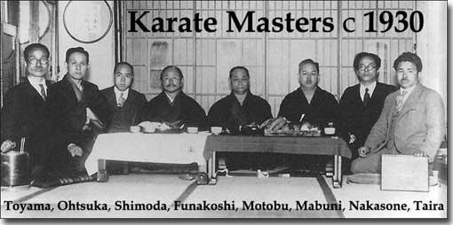 History of Karate - Karate Masters c1930s