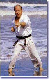 Mas Oyama Training on the Beach