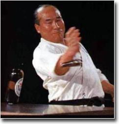Mas Oyama Kyokushin Founder Bottle Break