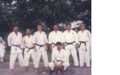author ( 3rd from L) at AIKF Instructors Camp 2000, India