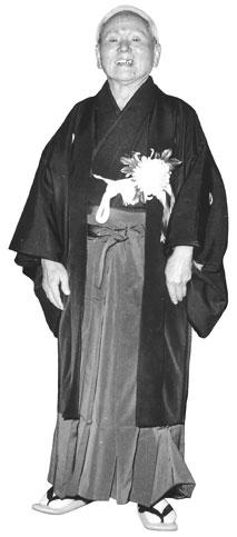 Gichin Funakoshi Standing