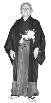 Karate Master Gichin Funakoshi Standing 2