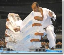 Kyokushin Karate Ice Breaking