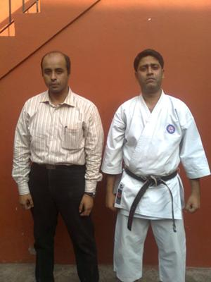Arijit (L) and Sensei Somnath Palchowdhury