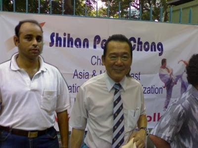 Arijit with Peter Chong Shihan , 8th Dan
