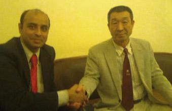 Arijit with Osaka Shihan